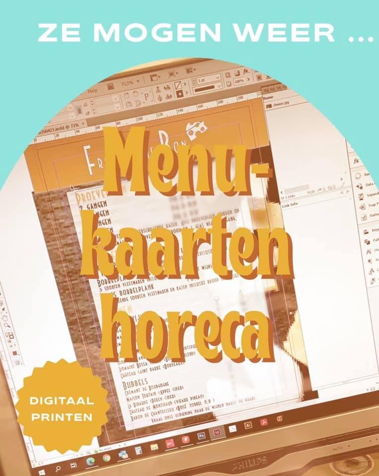 digitaal printen menukaarten