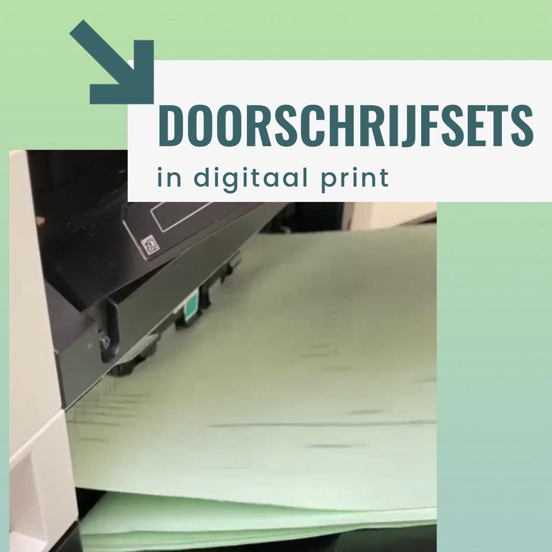 digitaal print zelfdoorschrijvende sets