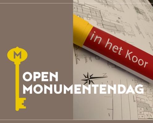 Open Monumentendag printen plotten afdrukken plastificeren opplakken