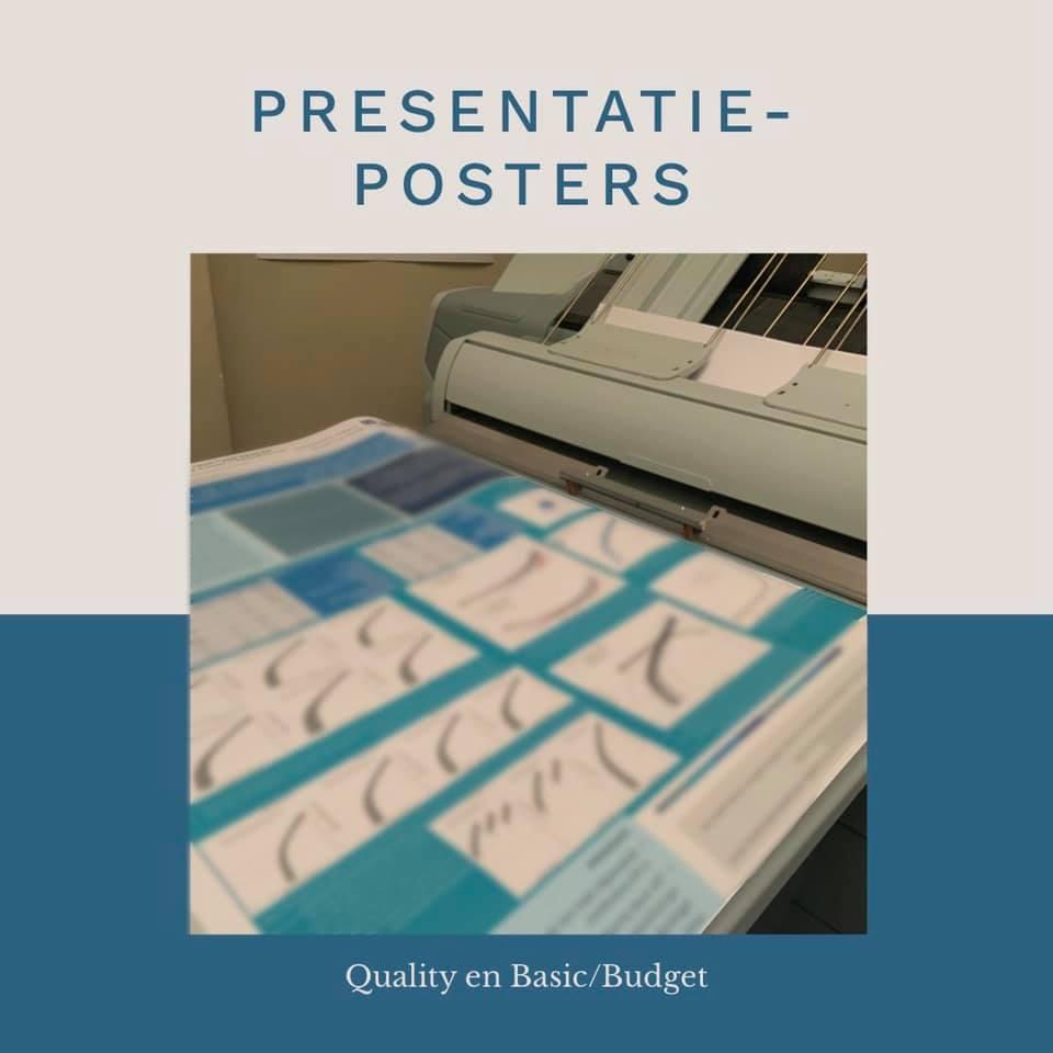 wetenschappelijke presentatieposter grootformaat basic budget quality plotten
