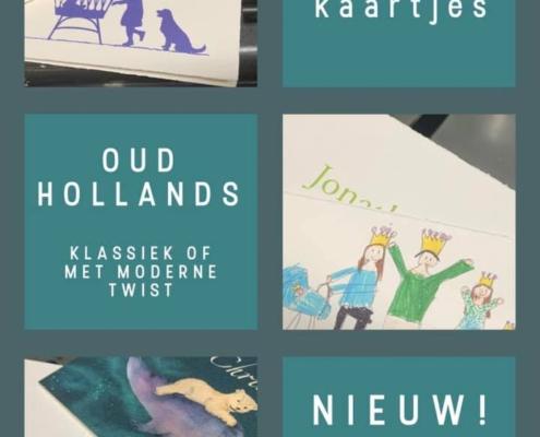 geboortekaartjes: klassiek en modern: Oud Hollands en Aquarelkarton
